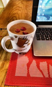 Chocolat chaud à la framboise
